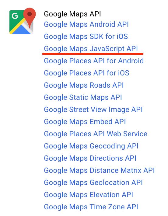 GoogleMap API